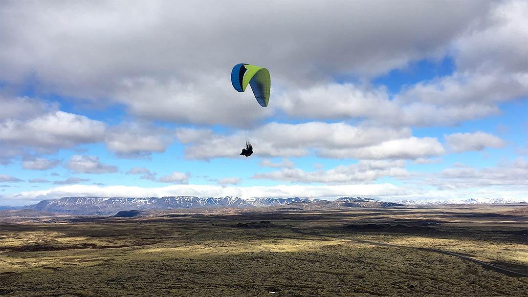 Svifvængjaflug Reykjavík Bláfjöll